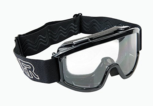 Raider 26-010 Single Lens Youth MX Off-Road Goggles, Black Frame/Clear ()