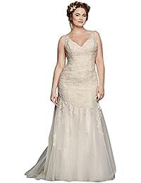 Plus Size Melissa Sweet Illusion Tank Wedding Dress Style 8MS251150