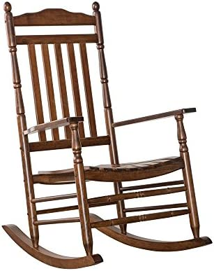 B Z KD-22N Rocking Chairs Wood Porch Furniture Outdoor Indoor Natural OAK