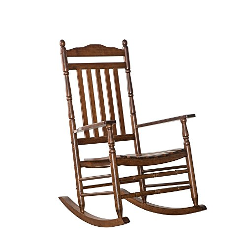 Arm Rocking Chair - B&Z Rocking Chair Outdoor for Porch Wooden Rocker Indoor Natural Furniture Federal Leg Arm KD-22N OAK