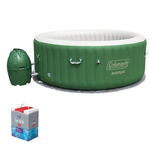 (Coleman SaluSpa 6 Person Inflatable Outdoor Spa Hot Tub w/Chlorine Starter Kit )