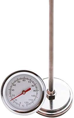 QLING Termómetro Suelo con Compost Detector jardín para jardín 0 grados-120 Grados Sonda medición Portátil 50 cm Tallo Largo Acero Inoxidable preciso Herramienta Marcado Transparente: Amazon.es: Hogar