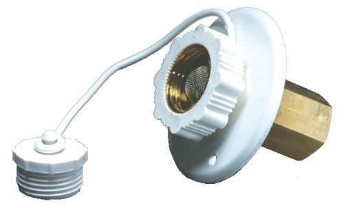 Aqua Pro 27881 Polar White Metal Surface Mounting Flange with 1/2'' Female Pipe Thread (4)