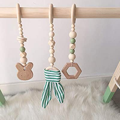 Forart Wood Baby Gym Wooden Baby Teether Toys Play Gym Frame Activity Gym Hanging Bar Baby Toy for Newborn Gift: Home & Kitchen