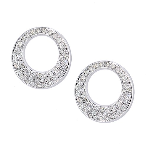 Naava femme  9carats (375/1000)  Or blanc #Gold Rond   Blanc Diamant
