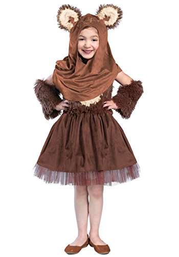 [Princess Paradise Girls Classic Star Wars Premium Wicket Dress, Brown, Medium] (Ewok Star Wars Costume)