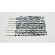 "Specialty Bling Silver Cake Pop Sticks - Silver Sparkles for Lollipops, Cake Pops - 6"" 15.2 cm - 25 count set"