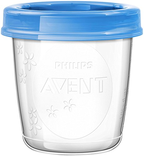New Philips AVENT Breast Milk Storage Cups 6 Ounce Pack of 10