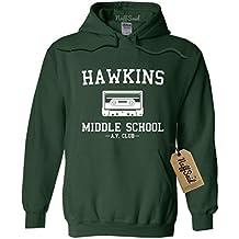NuffSaid Hawkins Middle School AV Club Hoodie/Hooded Sweatshirt Sweater - Unisex Fit