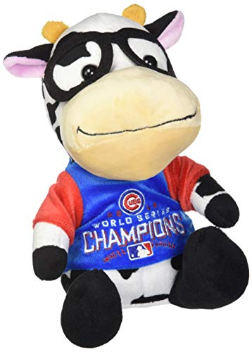 FOCO MLB Chicago Cubs2016 World Series Champions Plush Cow with Glasses, Chicago Cubs, One Size