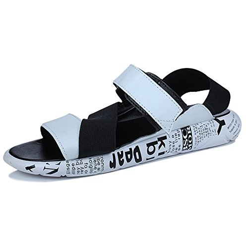 ZHANGRONG UK7 Mens A EU40 A Couleur CN41 Sandale Vamp Velcro taille Straps PU rrwqA