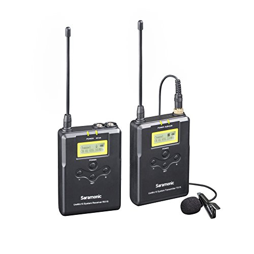 Saramonic UwMic15 16-Channel Digital UHF Wireless Lavalier Microphone System, Includes TX15 Bodypack Transmitter and RX15 Portable Receiver