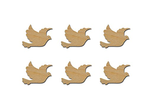 - Dove Cut Outs Unfinished Wood Mini Doves 2