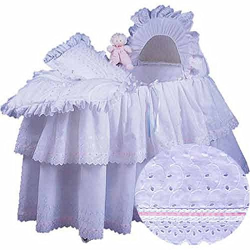 aBaby Little Angel Bassinet Skirt, Pink, Small