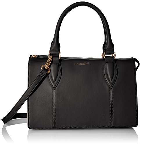 Tignanello City Satchel, Black/Multi (Tignanello Genuine Leather)