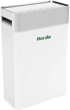 Aorda Air Purifier for Home True HEPA Filter Air Cleaner with Quiet Sleep Mode – Eliminates Dust, Odor, Smoke, Pet Dander – for Allergies, Bedroom, Office White