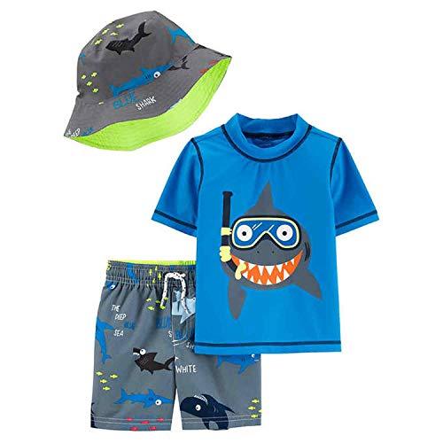 Carter's Boys' Rashguard Sets (Colorful Shark, 6T) (Boy 6t Carters)