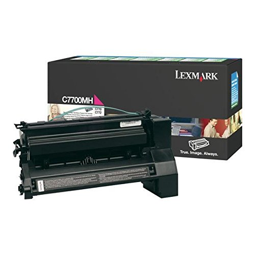 "- C7700MH Genuine Lexmark C7700MH magenta high capacity ""Return Program"" toner cartridge designed for the Lexmark C770n / C772n / X772e toner printers (10,000 page yield). OEM"