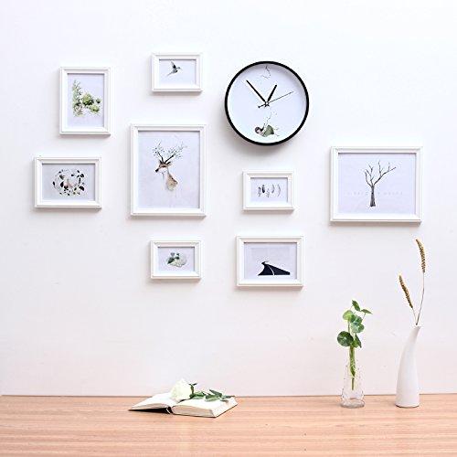 Foto's Wand dekor bild Rahmen kreative mediterrane Wohnwand Kinderzimmer Schlafzimmer Wohnzimmer Wand Foto rahmen weiße Wände.