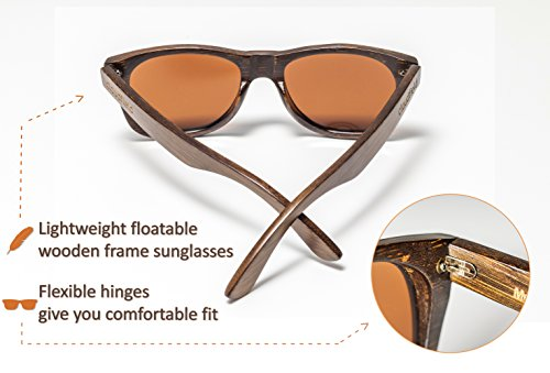 Wood Sunglasses Polarized for Men and Women - Bamboo Wooden Sunglasses Sunnies - Fishing Driving Golf woodies westwood treehut texas paul frank kreed pirana hawkers blenders sunski aunglasses kz 3 HANDMADE WOOD SUNGLASSES