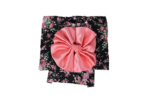 Japanese Kimono Style Dress for Small Dogs and Cats Dog Apparel Cat Clothing (M, Black)