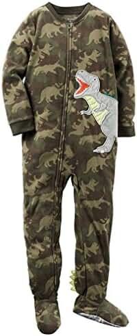 Carters Boys 4T DINOSAUR CAMOUFLAGE DINO Fleece Footed Blanket Pajama Sleeper