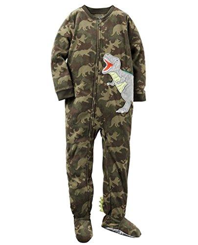 Carters Baby Boy Fleece Pajamas (3T, Dinosaur Camo)