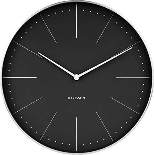 Karlsson Wall Clock, Steel, Black, One Size