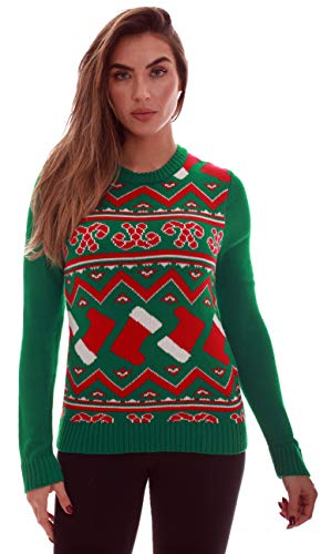 Blueberi Boulevard Womens Ugly Christmas Sweater - Sweaters for Women AMB55010-M -