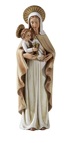 Resin Our Lady of the Blessed Sacrament Figurine Inspired by Sister M.I. Hummel, 8 Inch