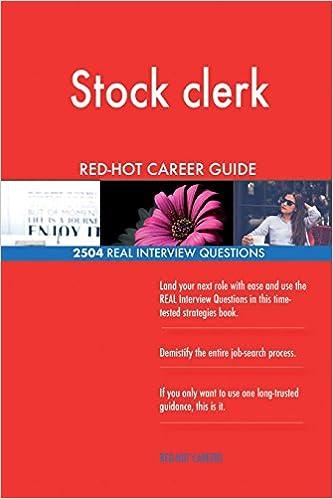Stock clerk RED-HOT Career Guide