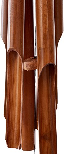 Cohasset Gifts Bamboo Wind Chimes| Natural Beautiful Sound | Wood Outdoor Home Decor | Plain Antique
