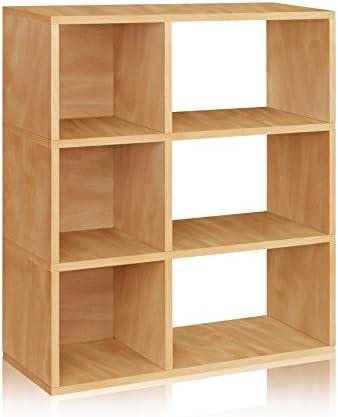 Way Basics Eco 3 Shelf Sutton Bookcase and Cubby Storage
