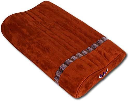 Ereada Far Infrared Amethyst Mat Pillow - High End Negative Ion and FIR Pillow - Jewelry Grade Natural Amethyst Gems - Memory Foam - Luxury Suede (Gentle Pillow 19