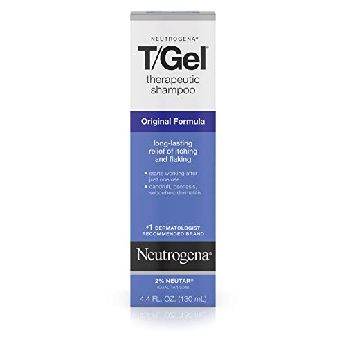 (Neutrogena T/Gel Therapeutic Shampoo Original Formula, Anti-Dandruff Treatment for Long-Lasting Relief of Itching and Flaking Scalp as a Result of Psoriasis and Seborrheic Dermatitis, 4.4 fl. oz)