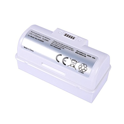 UWECAN High Capacity Replacement Li-ion Battery for iRobot Braava Jet 240 Battery for Floor Mopping Robots - 3.6V - 5300mah - Safety - White (1 Pack)
