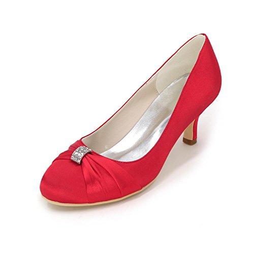 L Red Tacón Alto La Color Raso Código Cómodo Partido Multicolor Boda Para Mujer Fino De Zapatos yc Con El grqwZtUg
