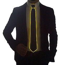 Yellow Micro Soild-red Light LED Tie