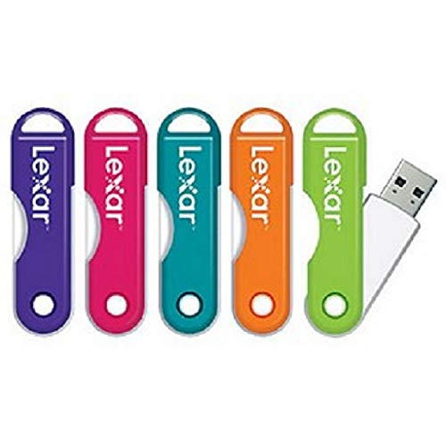 Lexar JumpDrive TwistTurn USB 2.0 Flash Drive 16GB, Assorted Colors Please Note: This is for 1 JumpDrive (No Color Choice) - Easily slips onto a keychain or a bag.