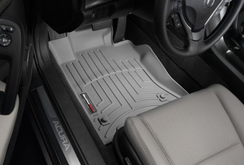 WeatherTech Custom Fit Front FloorLiner for Toyota Prius, Grey 460851