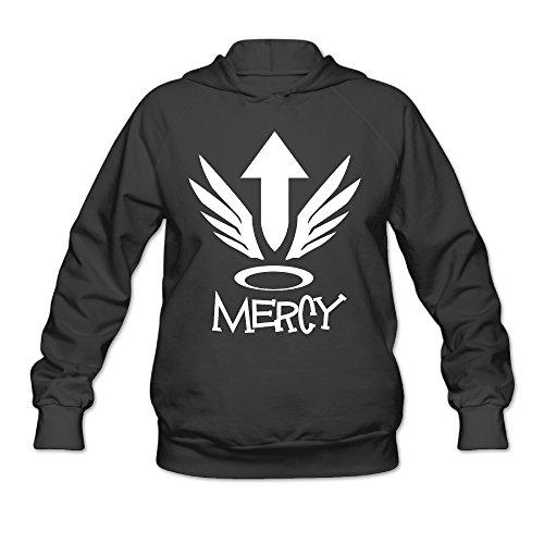 Overwatch Women's Mercy Hoodies Sweater Size M Black ()