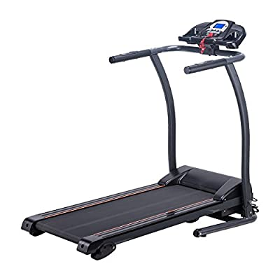 Pinty Folding Home Running Machine Wide Incline Treadmill with LED Display, MP3 Player, Ermergency Stop, Miles Track