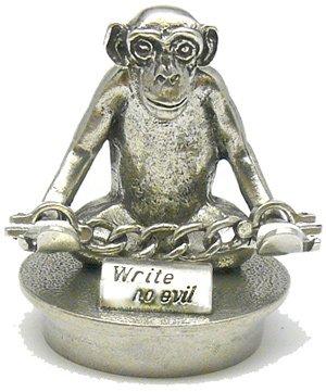 Jac Zagoory Pen Stand Mini Write No Evil Monkey Stand - JZ-PH101 ()