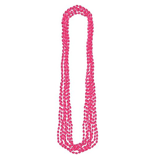 Pink Metallic Bead Necklaces 8ct, Party Accessory -