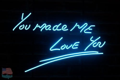 Desung Brand New 24''x20'' You Made Me Love You Blue Color Neon Sign (Various sizes) Beer Bar Pub Man Cave Business Glass Neon Lamp Light DB152