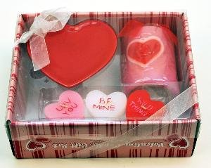 candles4less valentine candle gift set