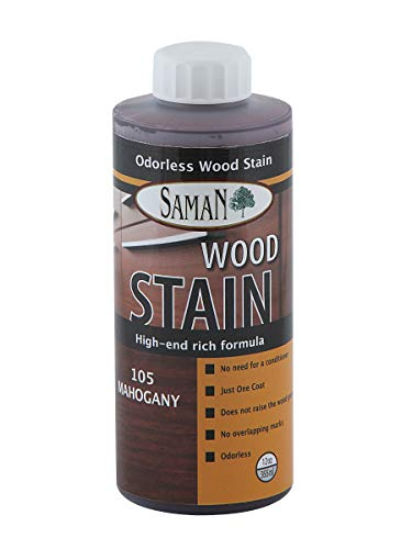 SamaN Interior Water Based Stain for Fine Wood, Mahogany, 12 oz (Best Stain For Mahogany Wood)