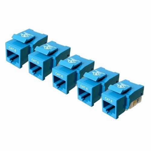 -7100B-5 CAT-6 Keystone Jack, 5 Pack (Blue) ()