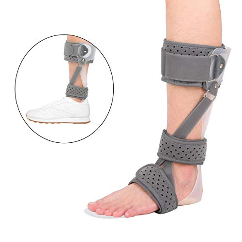 iiHOME Drop Foot Brace, Ankle Support Splint, Ankle Foot Orthosis (AFO) (M-Left)