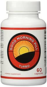 Good Morning Pill Turbo - 200mg Caffeine Pills - Extra Strength Energy Supplement  (60 Capsules)
